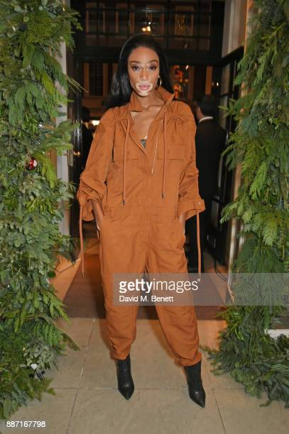 Winnie Harlow attends the Stella McCartney Christmas Lights 2017 party on December 6 2017 in London England
