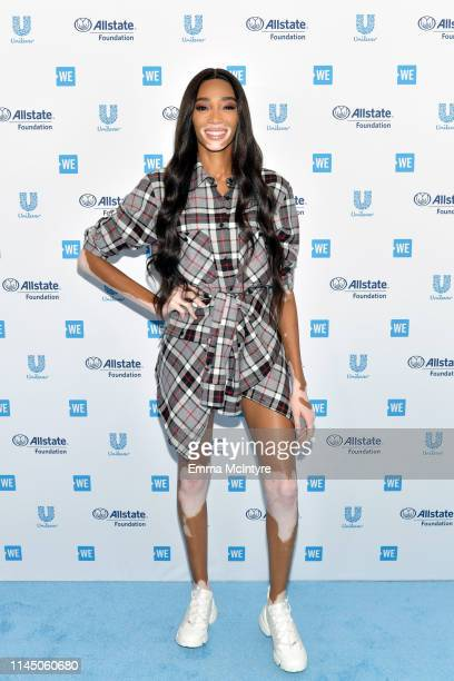 Winnie Harlow attends WE Day California at The Forum on April 25, 2019 in Inglewood, California.