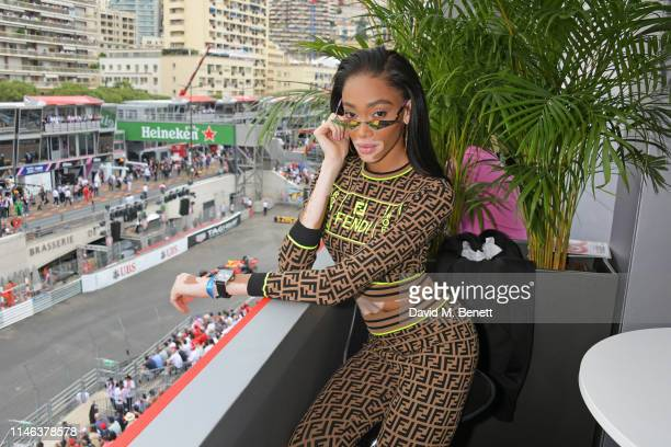 Winnie Harlow celebrates 50 Years of the Monaco Watch at the Formula 1 Grand Prix De Monaco, the legendary event that gave the watch its name in...
