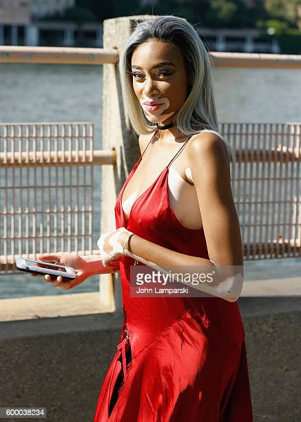 Winnie Harlow is seen arriving to the Yeezy Season 4 fashion show on September 2016 New York Fashion Week The Shows at Four Freedoms Park on...