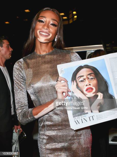 Winnie Harlow is seen attending The Daily Front Row 6th Annual Fashion Media Awards at Park Hyatt New York on September 06 2018 in New York City