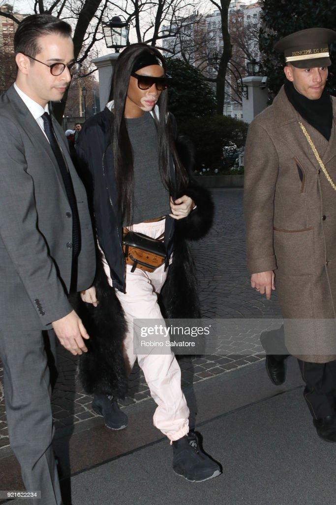 Celebrity Sightings: February 20 - Milan Fashion Week Fall/Winter 2018/19 : Foto di attualità