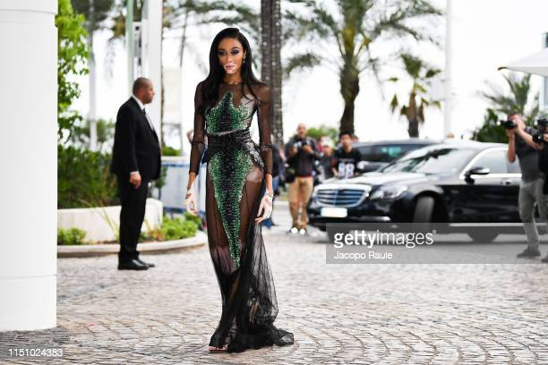 Winnie Harlow is seen during the 72nd annual Cannes Film Festival at on May 22 2019 in Cannes France