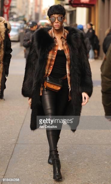 Winnie Harlow is seen in Soho on February 7 2018 in New York City
