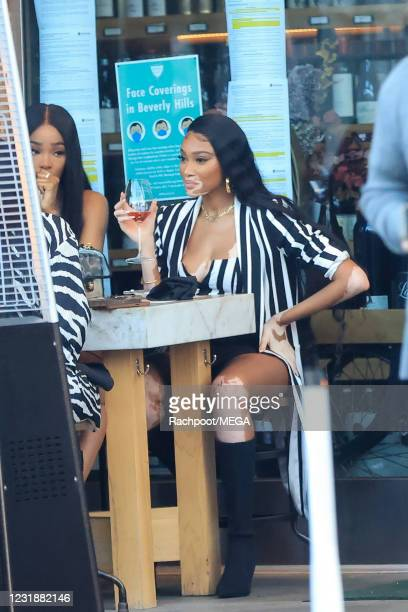 Winnie Harlow is seen on March 22, 2021 in Beverly Hills, California.