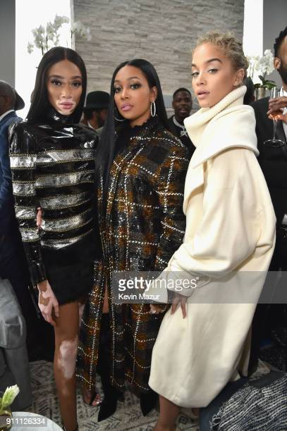 Winnie Harlow Monica and Jasmine Sanders attend Roc Nation THE BRUNCH at One World Observatory on January 27 2018 in New York City