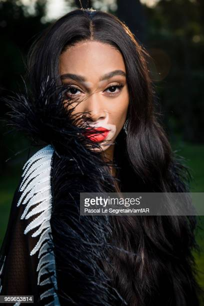 Winnie Harlow poses for portraits at the amfAR Gala Cannes 2018 cocktail at Hotel du CapEdenRoc on May 17 2018 in Cap d'Antibes France