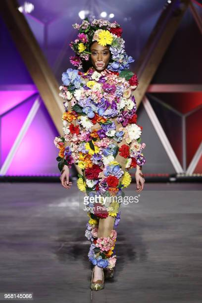 Winnie Harlow walks the Runway at Fashion for Relief Cannes 2018 during the 71st annual Cannes Film Festival at Aeroport Cannes Mandelieu on May 13...