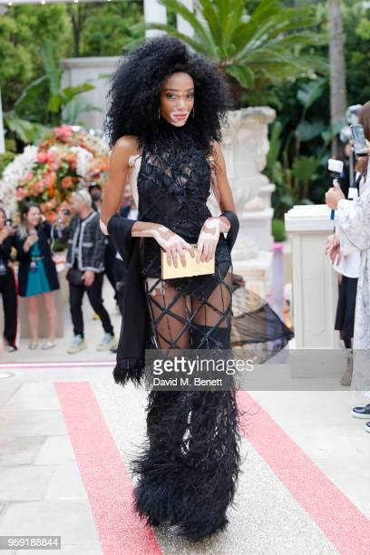 Winnie Harlow walks the runway at Philipp Plein 'Dynasty' Women's Men's Resort 2019 Fashion Show during the 71st annual Cannes Film Festival on May...