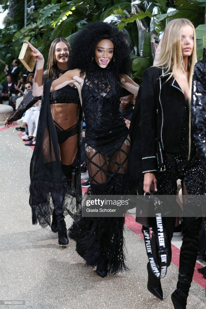 Winnie Harlow walks the runway at the Philipp Plein 'Dynasty' Women's & Men's Resort 2019 Fashion Show during the 71st annual Cannes Film Festival at on May 16, 2018 in Cannes, France.
