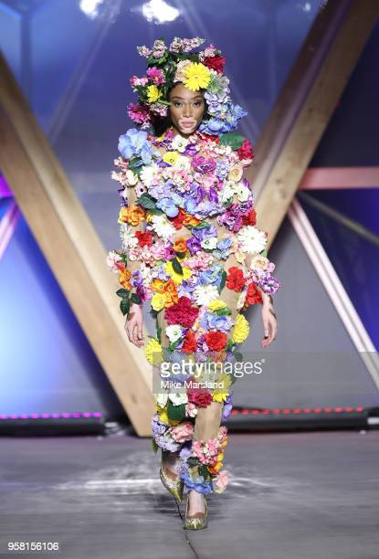 Winnie Harlow walks the runway during Fashion For Relief Cannes 2018 during the 71st annual Cannes Film Festival at Aeroport Cannes Mandelieu on May...