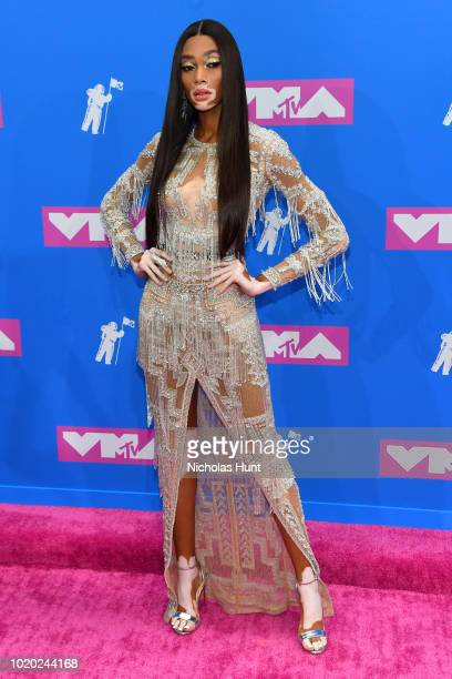 Winnie Harlowe attends the 2018 MTV Video Music Awards at Radio City Music Hall on August 20 2018 in New York City