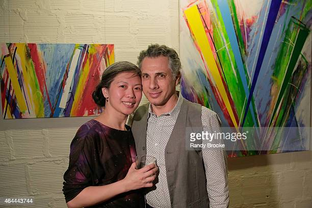 Winnie Lee and Lester Tour attend FilmRise Celebrates new office in Industry City Brooklyn at FilmRise on February 25 2015 in Brooklyn New York