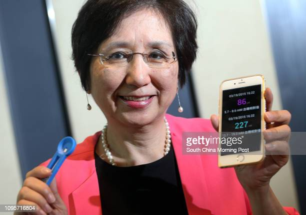 Winnie Lun Suetseung CEO of eNano Health poses to photographer at Biotech Centre at Science Park in Sha Tin 03JUN15