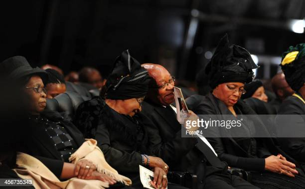 Winnie Madikizela Mandela with President Jacob Zuma during Madiba's State Funeral on December 15 2013 in Qunu South Africa Nelson Mandela passed away...