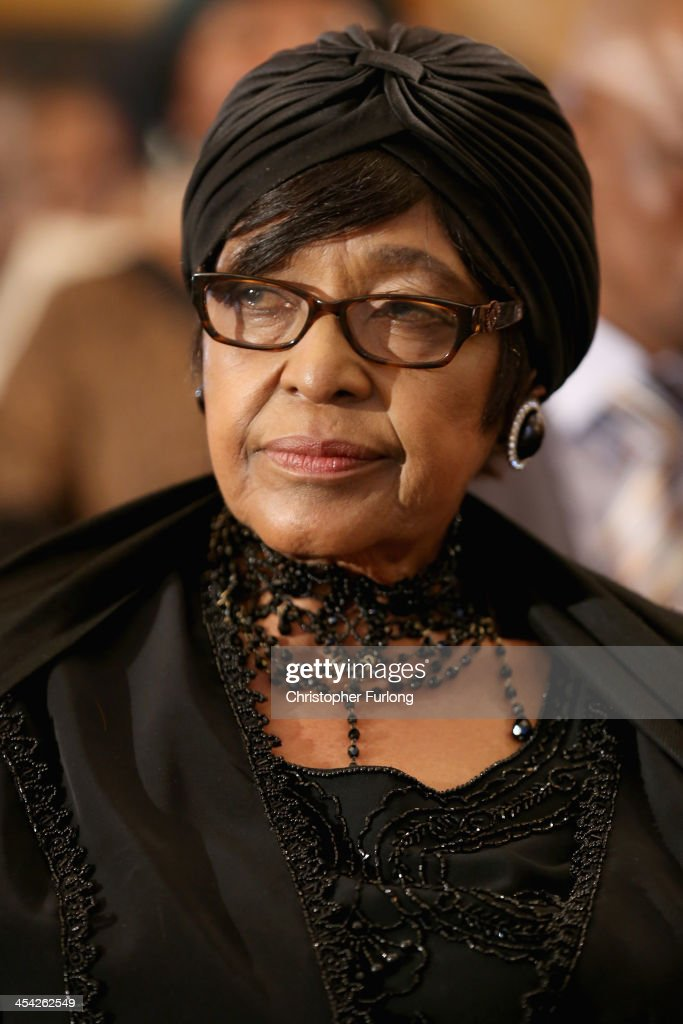 Winnie Madikizela-Mandela, ex-wife of former South Africa President Nelson Mandela attends a service at Bryanston Methodist Church during a national day of prayer, on December 8, 2013 in Johannesburg, South Africa. Mandela, also known as Madiba, passed away on the evening of December 5th, 2013 at his home in Houghton at the age of 95. Mandela became South Africa's first black president in 1994 after spending 27 years in jail for his activism against apartheid in a racially-divided South Africa