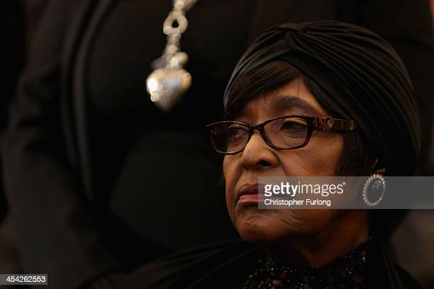 Winnie MadikizelaMandela exwife of former South Africa President Nelson Mandela attends a service at Bryanston Methodist Church during a national day...