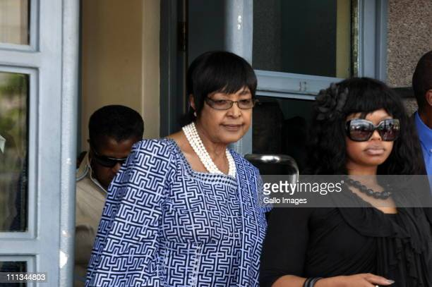 Winnie MadikizelaMandela leaves the Johannesburg Magistrates Court in Johannesburg South Africa on 31 March 2011 She attended the trial of Sizwe...
