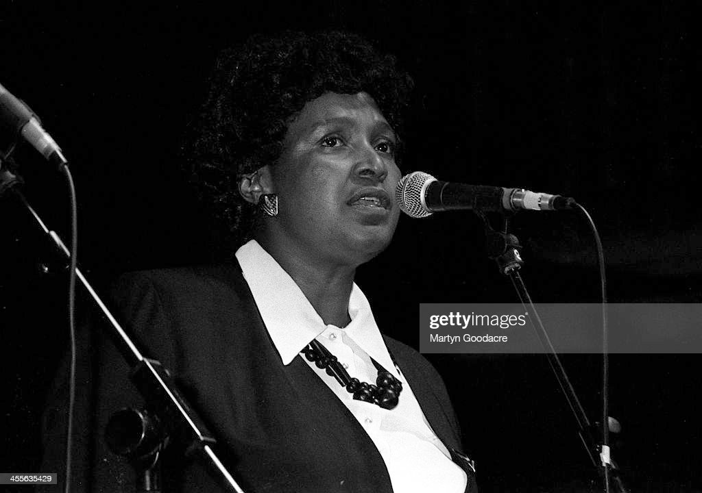 Winnie Mandela At Brixton Academy Dance Mandela Concert 1990 : News Photo