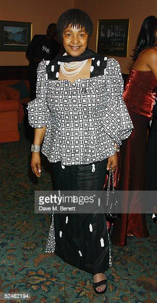 Winnie Mandela attends the 46664 South Africa Dinner Auction following yesterday's charity concert 46664 South Africa at the Fancourt Hotel Country...