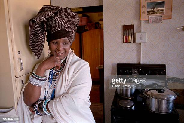 Winnie Mandela in Traditional Dress