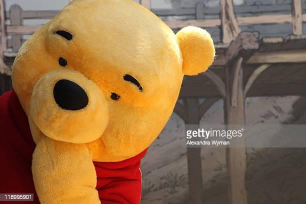 Winnie The Pooh arrives at The Los Angeles Premiere of 'Winnie The Pooh' held at The Walt Disney Studios on July 10 2011 in Burbank California