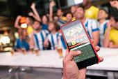 Winning an online bet on a football game