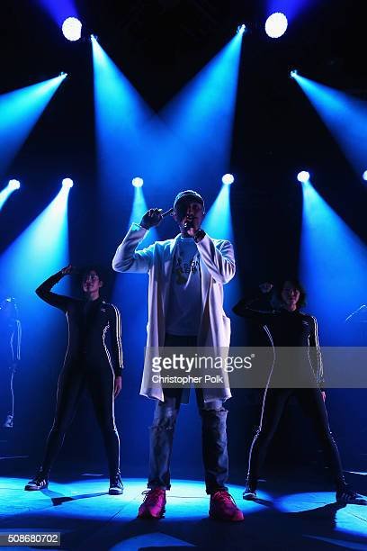 GRAMMY winning artist Pharrell performs following the 2015 Pepsi Rookie of the Year Award Ceremony at the 2015 Pepsi Rookie of the Year Award...