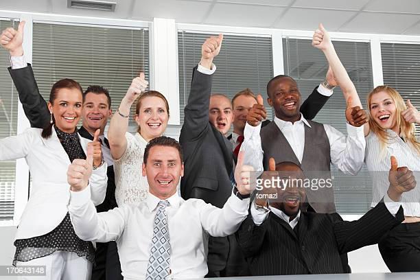 Winning business team.
