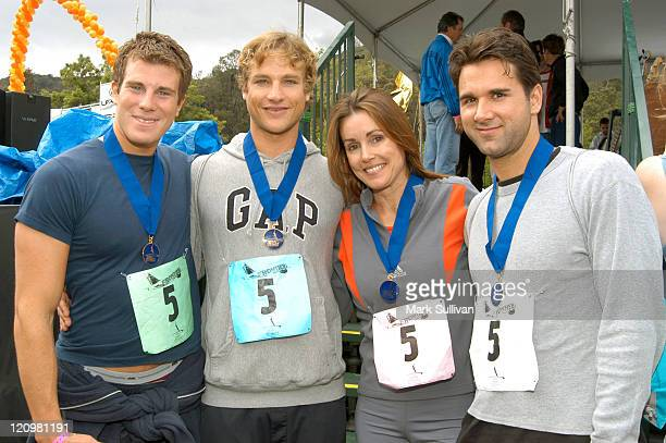 Winning Celebrity Relay Race Team Greg Siff Mark Hewlett Alex Donnelley and Michael Squellati