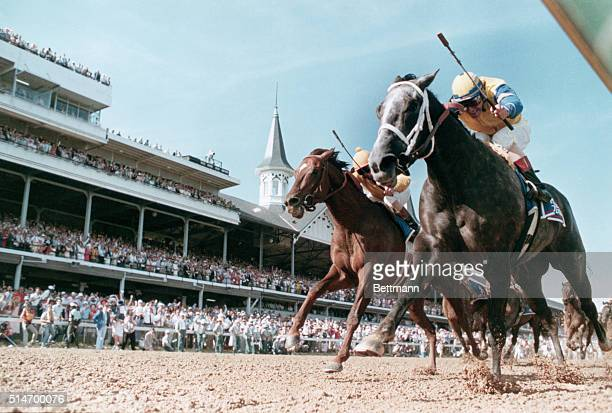 Winning Colors wins the Kentucky Derby on May 7 1988 Forty Niner is second Louisville Kentucky