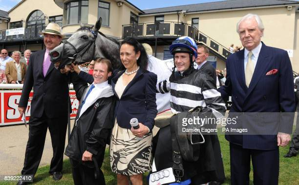 Winning connections Owner Lady O'Reilly and her husband Sir Anthony O'Reilly Trainer Dermot Weld stable boy Davy Glennon and jockey Pat Smullen with...