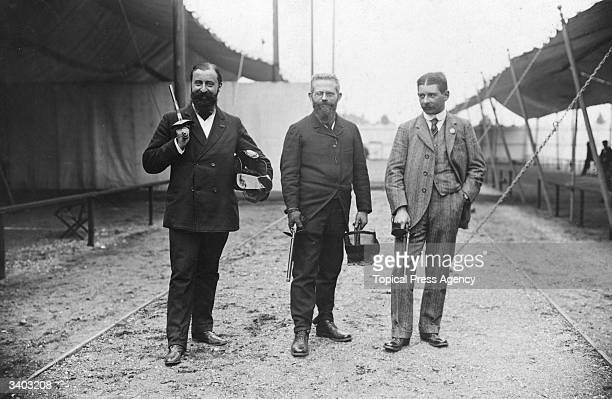 Winning French pistol duelling team at the 1908 Olympic games held in London L to r Major Ferrus J Marais and J Rouvcanachi