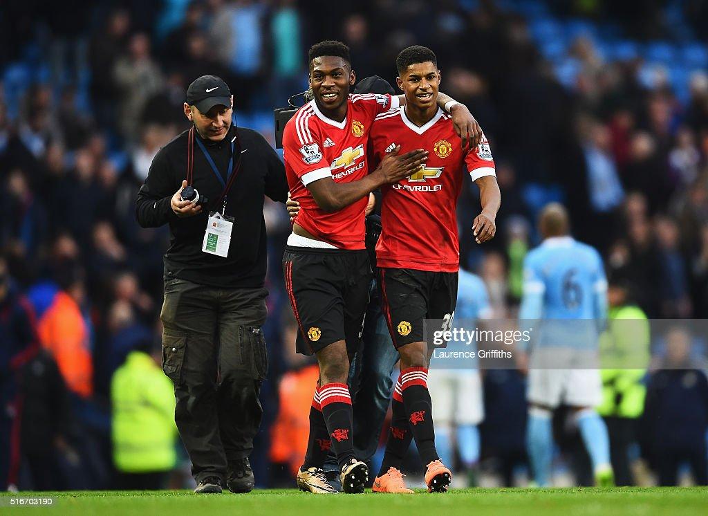 Manchester City v Manchester United - Premier League : Foto jornalística