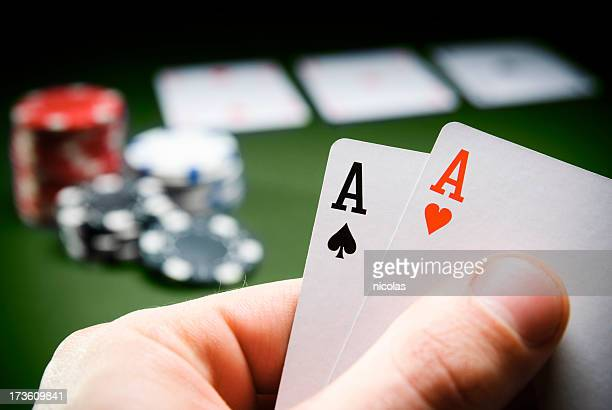 winning hand - texas hold 'em stock pictures, royalty-free photos & images