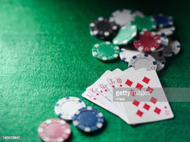 Preisgekrönte in einer Poker-Spiel