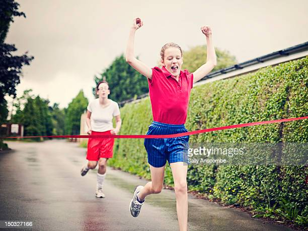 winning - finishing line stock pictures, royalty-free photos & images