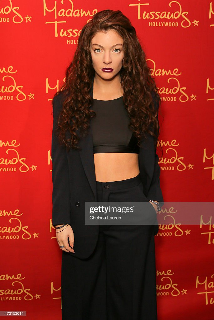 GRAMMY Winning Singer-Songwriter, Lorde Immortalized In Wax For Madame Tussauds Hollywood : News Photo