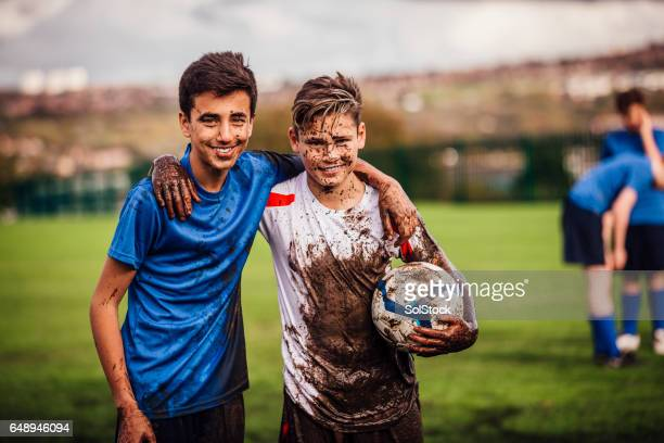 winning soccer team - match sport stock pictures, royalty-free photos & images