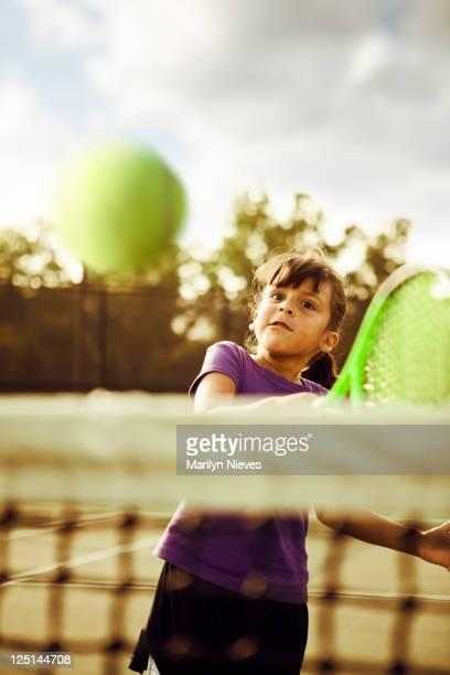 winning tennis swing