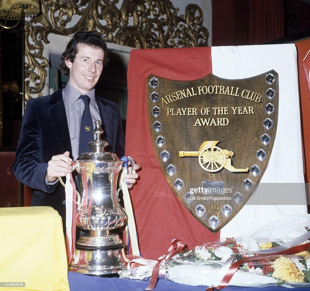 Liam Brady  -  Arsenal Player Of The Year : News Photo