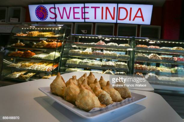 TORONTO ON MARCH 7 Winning vegetarian samosa at Sweet India restaurant In Mississauga March 7 2017