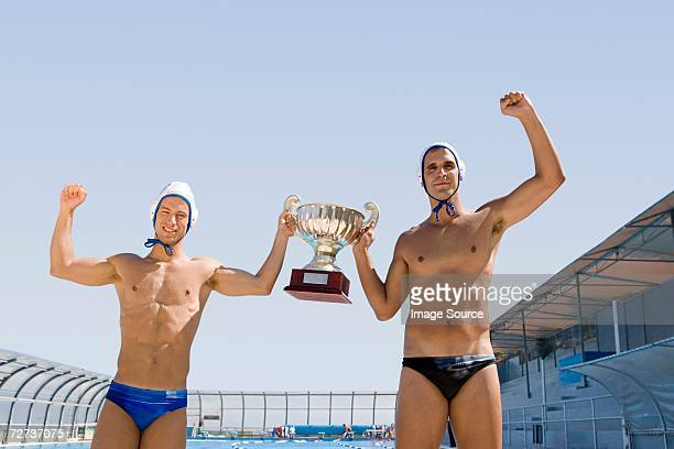 winning water polo players - water polo stock pictures, royalty-free photos & images