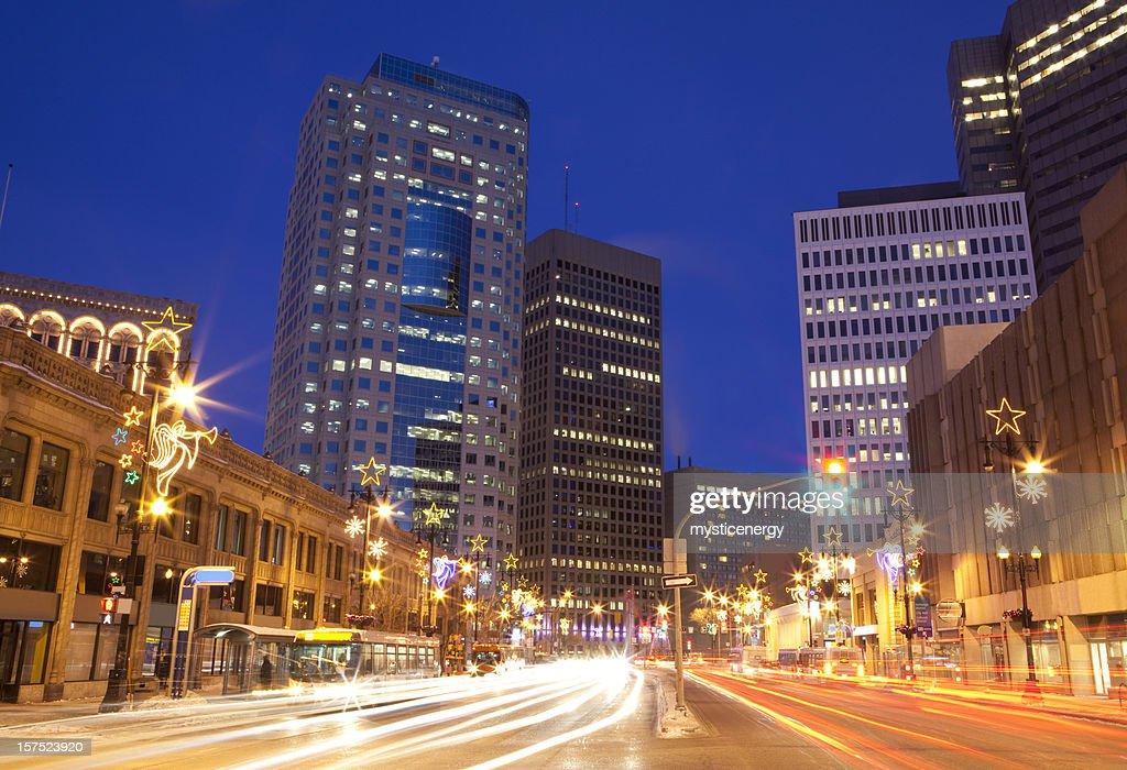 Winnipeg Christmas lights : Stock Photo