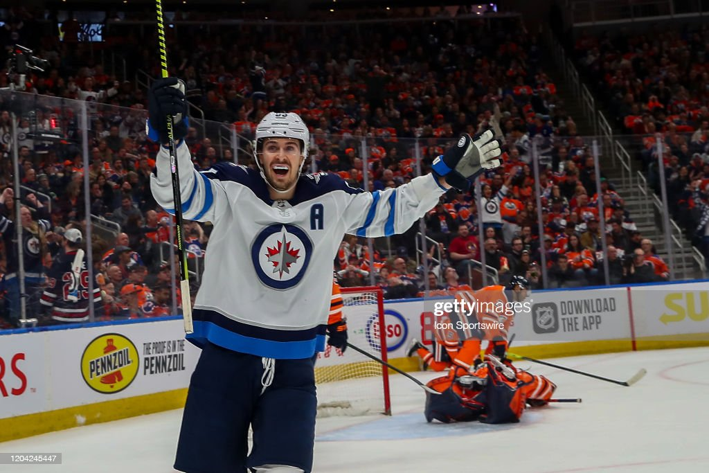 NHL: FEB 29 Jets at Oilers : News Photo