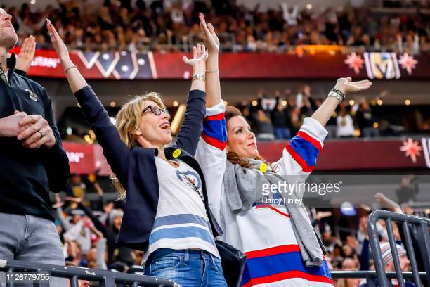 Winnipeg Jets fans dance in the stands during third period action between the Jets and the Vegas Golden Knights at TMobile Arena on February 22 2019...