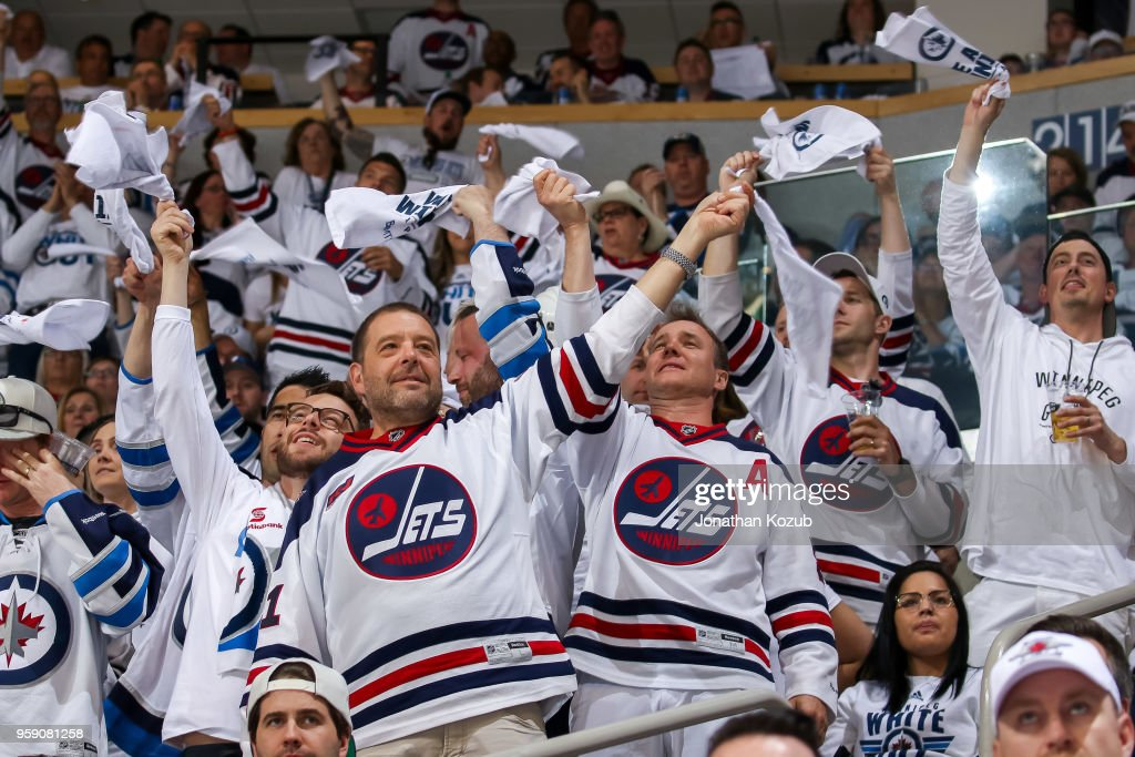 newest 770ab c33ef Winnipeg Jets fans stand and wave white towels during third ...