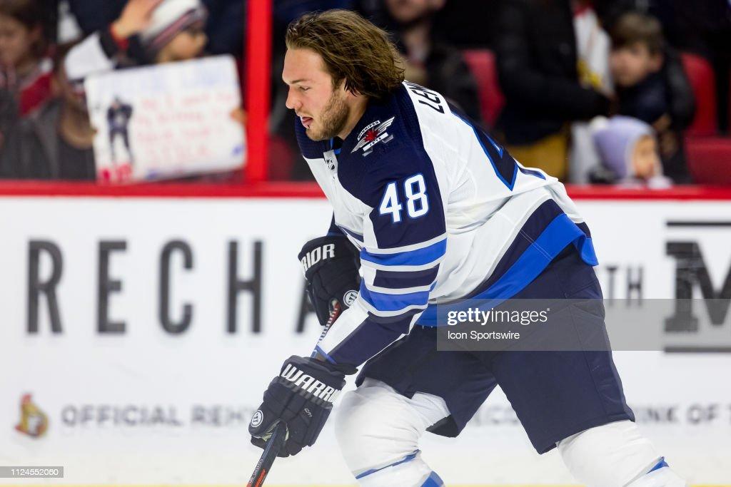 NHL: FEB 09 Jets at Senators : News Photo