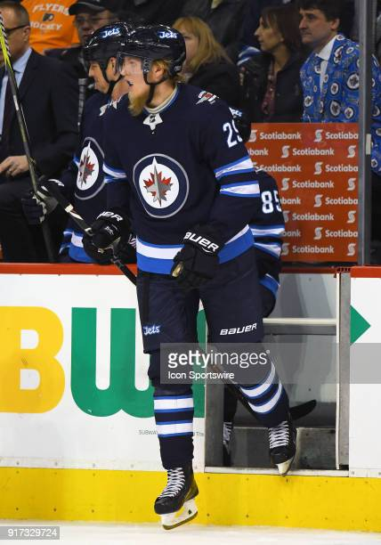 Winnipeg Jets Right Wing Patrik Laine takes the ice during a NHL game between the Winnipeg Jets and New York Rangers on February 11 2018 at Bell MTS...