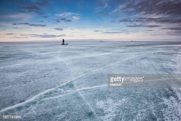 Winnipeg lake in winter